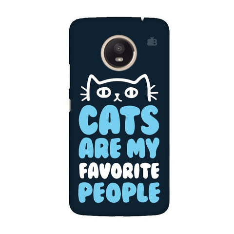 Cats favorite People Moto E4 Plus Phone Cover