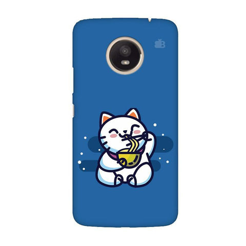 KItty eating Noodles Moto E4 Plus Phone Cover