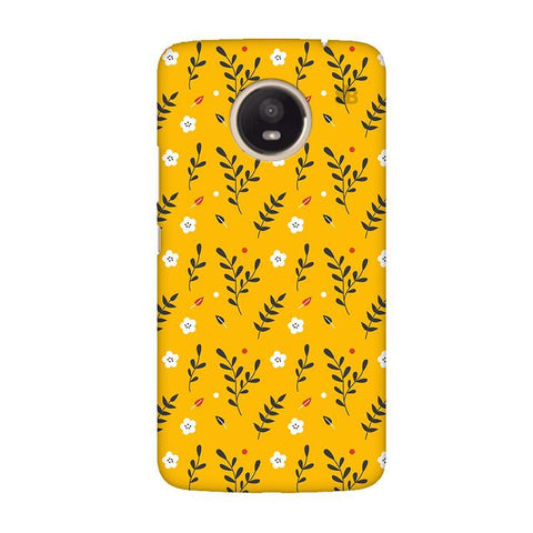 Summer Floral Pattern Moto E4 Plus Phone Cover