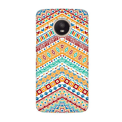 Wavy Ethnic Art Moto E4 Plus Phone Cover