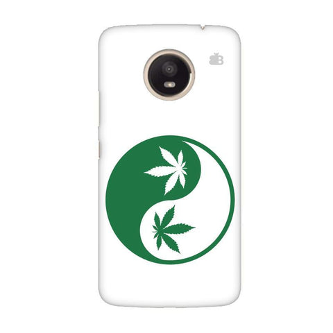 Weed Yin Yang Moto E4 Plus Phone Cover