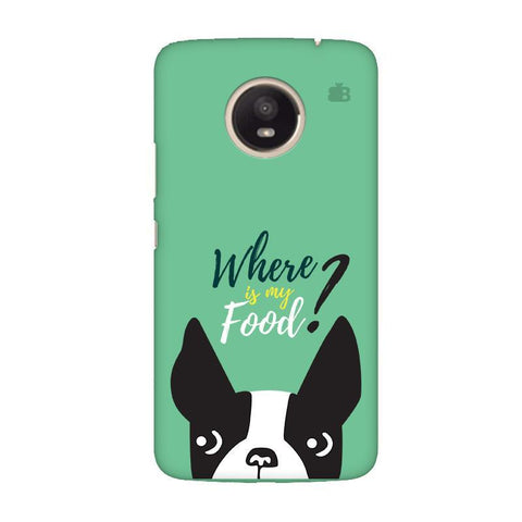 Where is my Food Moto E4 Plus Phone Cover