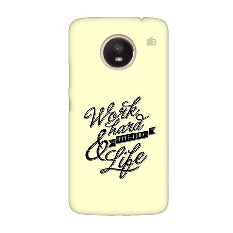 Work Hard Moto E4 Plus Phone Cover