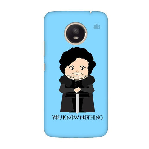 You Know Nothing Moto E4 Plus Phone Cover