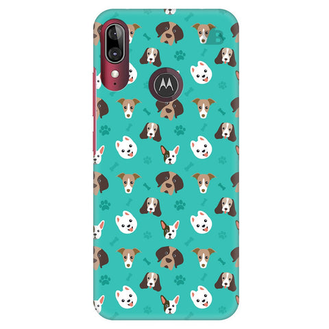Doggie Pattern Moto E6S Cover