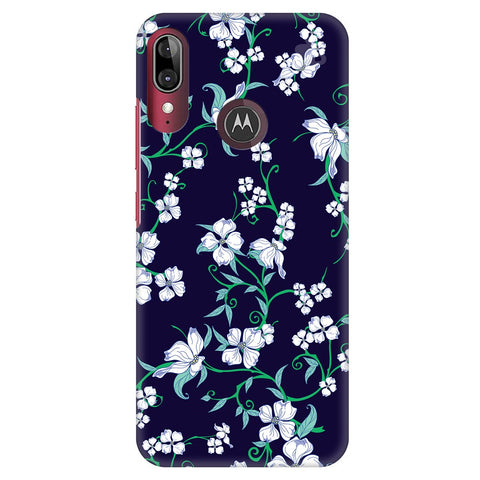 Dogwood Floral Pattern Moto E6S Cover