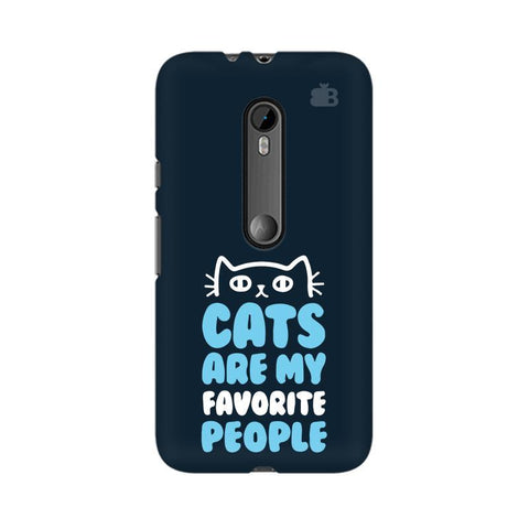 Cats favorite People Moto G3 Phone Cover
