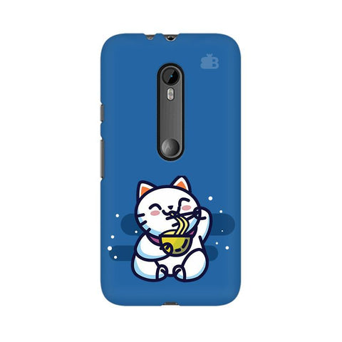 KItty eating Noodles Moto G3 Phone Cover