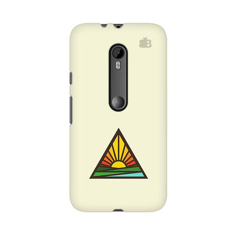 Triangular Sun Moto G3 Phone Cover