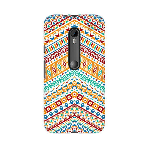 Wavy Ethnic Art Moto G3 Phone Cover