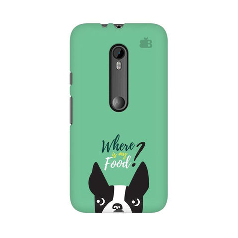 Where is my Food Moto G3 Phone Cover
