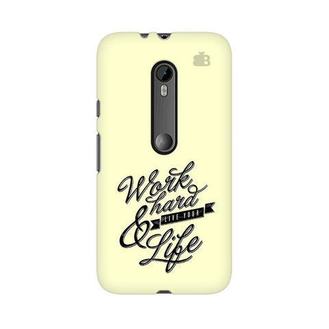 Work Hard Moto G3 Phone Cover