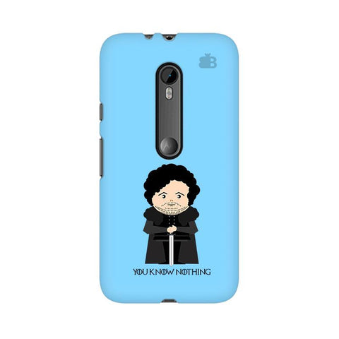You Know Nothing Moto G3 Phone Cover