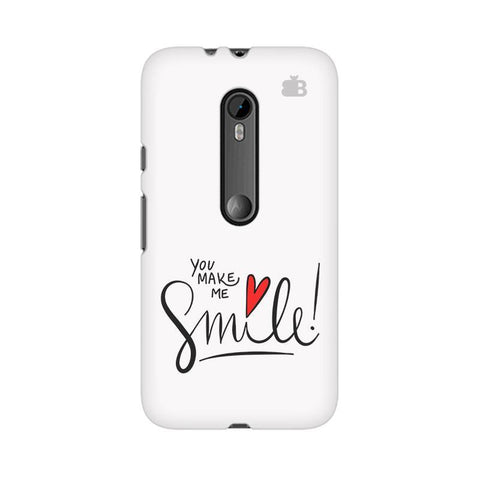 You make me Smile Moto G3 Phone Cover