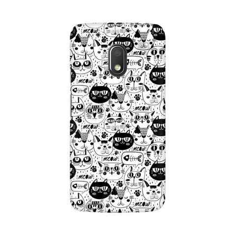 Cute Cats Pattern Moto G4 Play Phone Cover