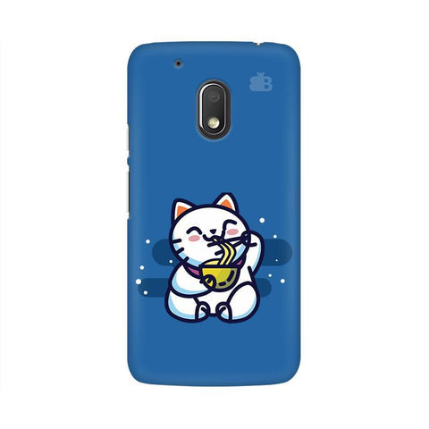 KItty eating Noodles Moto G4 Play Phone Cover