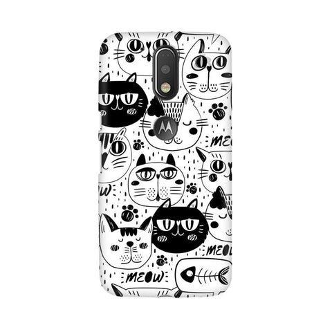 Cute Cats Pattern Moto G4  Plus Phone Cover