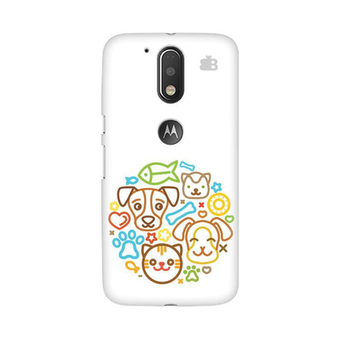 Cute Pets Moto G4  Plus Phone Cover