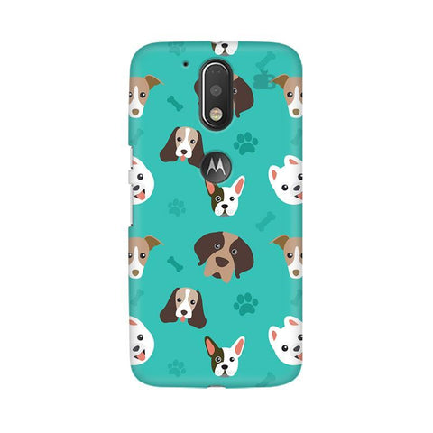 Doggie Pattern Moto G4  Plus Phone Cover