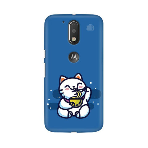 KItty eating Noodles Moto G4  Plus Phone Cover