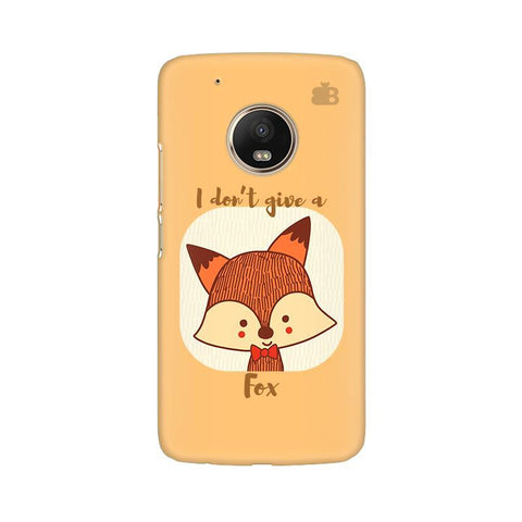 Dont give a Fox Moto G5 Phone Cover