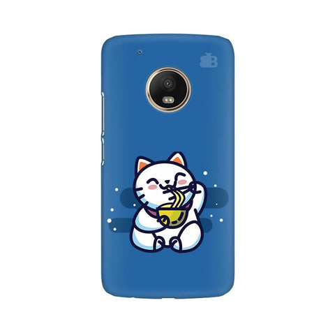 KItty eating Noodles Moto G5 Phone Cover