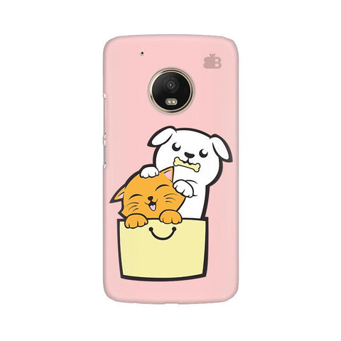 Kitty Puppy Buddies Moto G5 Phone Cover