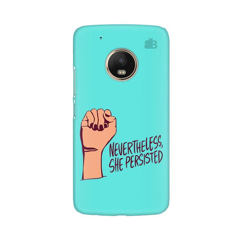 She Persisted Moto G5 Phone Cover