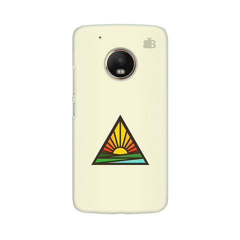 Triangular Sun Moto G5 Phone Cover