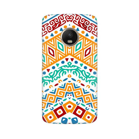 Wavy Ethnic Art Moto G5 Phone Cover
