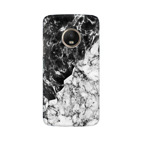 Black White Marble Moto G5 Plus Phone Cover