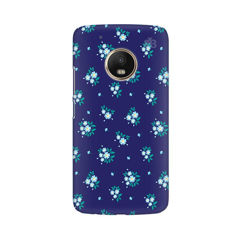 Blue Floral Pattern Moto G5 Plus Phone Cover