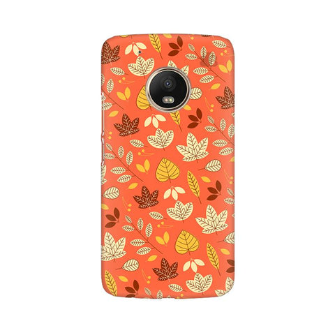 Cute Leaves Pattern Moto G5 Plus Phone Cover