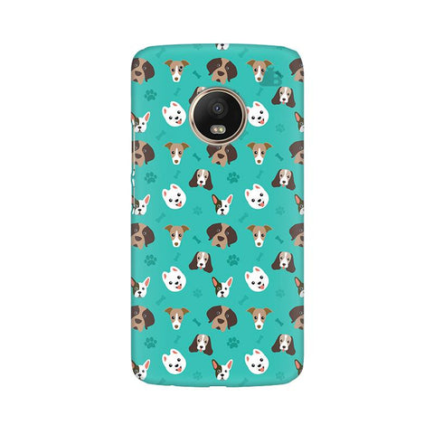 Doggie Pattern Moto G5 Plus Phone Cover