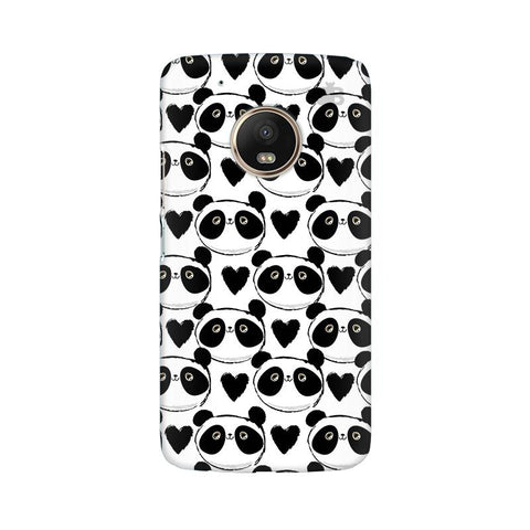 Happy Panda Pattern Moto G5 Plus Phone Cover