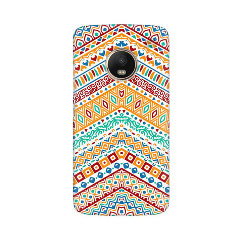Wavy Ethnic Art Moto G5 Plus Phone Cover