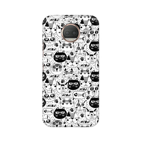 Cute Cats Pattern Moto G5s Phone Cover