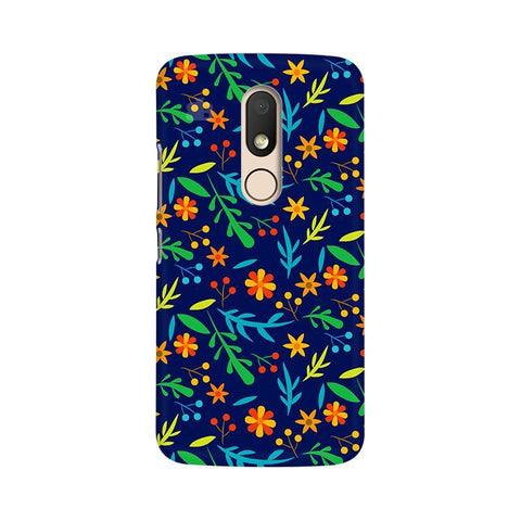 Vibrant Floral Pattern Moto M Phone Cover