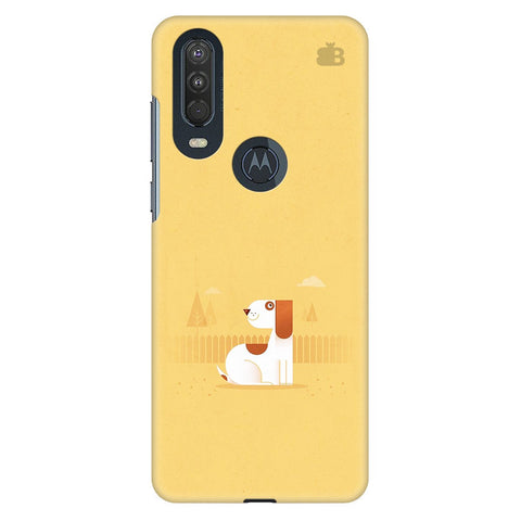 Calm Dog Motorola One Action Cover