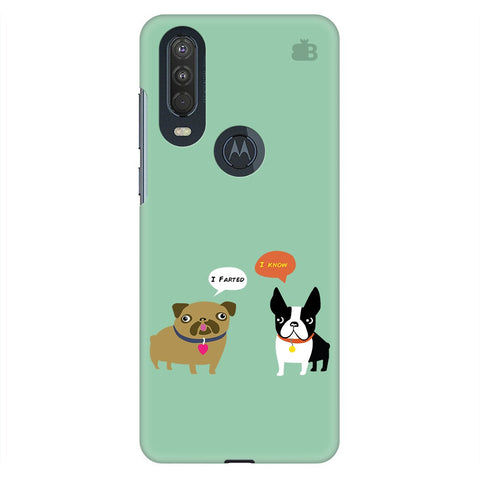 Cute Dog Buddies Motorola One Action Cover