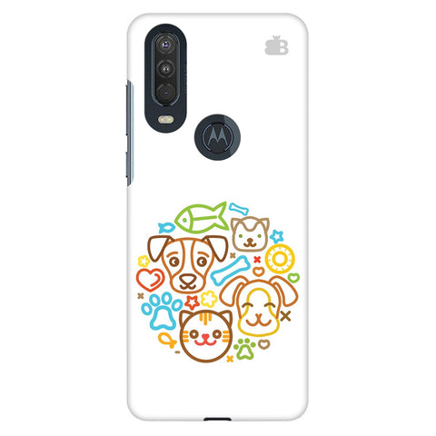 Cute Pets Motorola One Action Cover