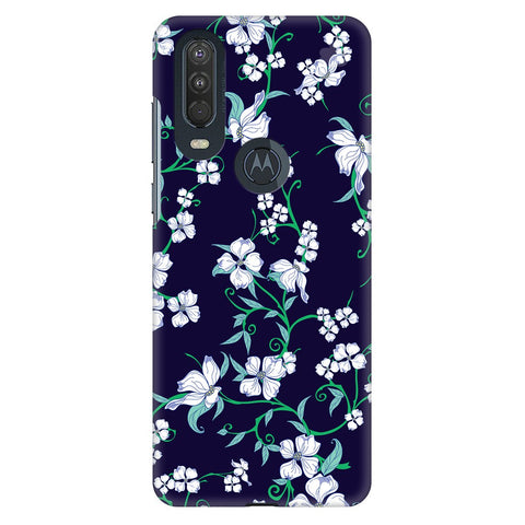 Dogwood Floral Pattern Motorola One Action Cover