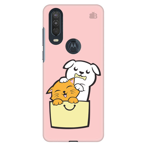 Kitty Puppy Buddies Motorola One Action Cover