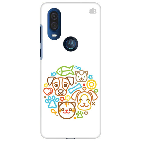 Cute Pets Motorola One Vision Cover