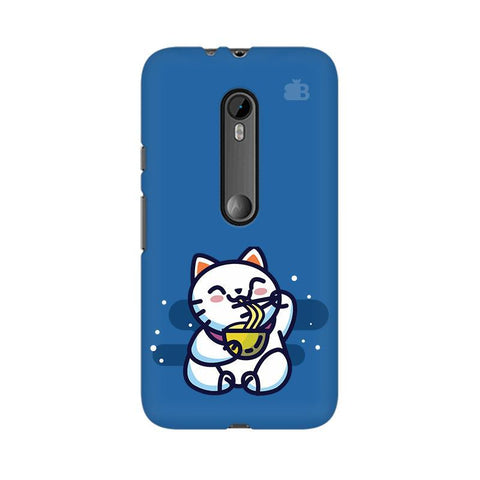 KItty eating Noodles Moto X Force Phone Cover