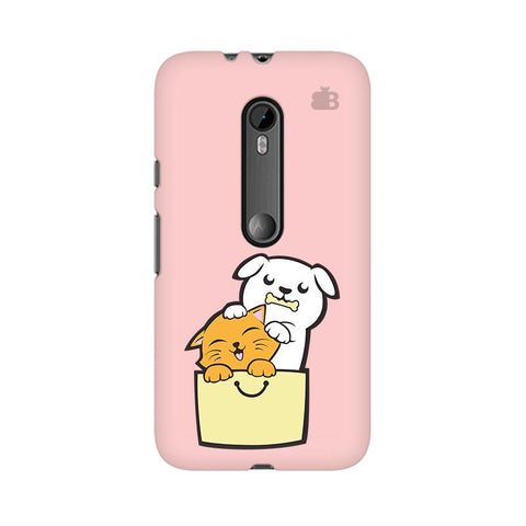Kitty Puppy Buddies Moto X Force Phone Cover