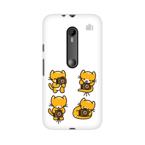 Photographer Kitty Moto X Force Phone Cover
