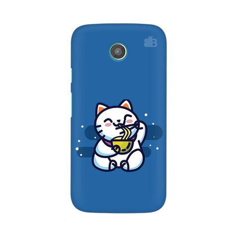 KItty eating Noodles Moto X Phone Cover