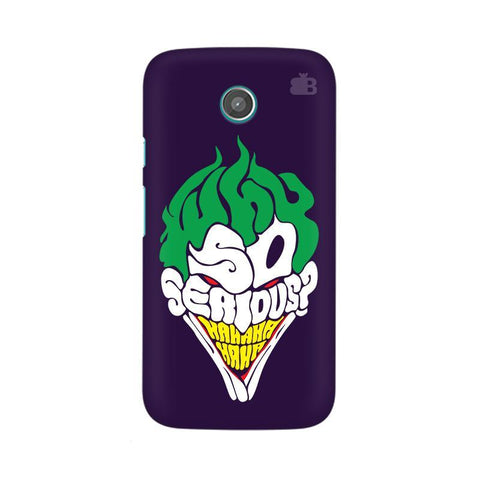 Why So Serious Moto X Phone Cover
