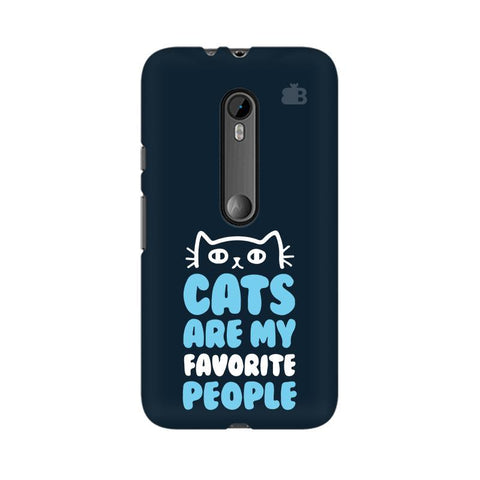 Cats favorite People Moto X Play Phone Cover